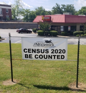 Census sign in McCormick