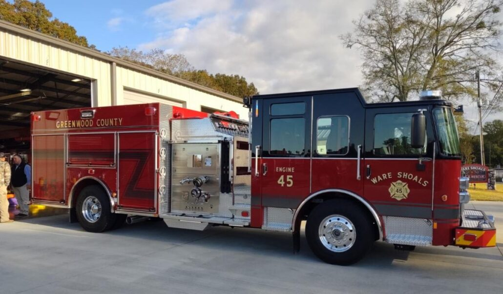 Town of Ware Shoals Fire Truck